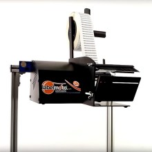 LD6025, electric label dispenser, dispenses short-length and tiny barcode labels